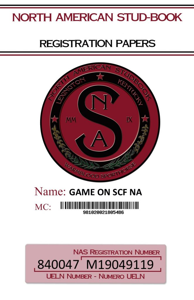 NAS Registration Papers